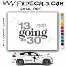 13 Going On 30 Movie Logo Decal Sticker
