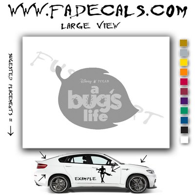 A Bugs Life Movie Logo Decal Sticker
