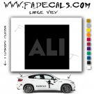Ali The Movie Logo Decal Sticker