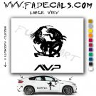 Alien Vs Predator Movie Logo Decal Sticker