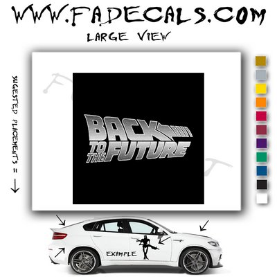 Back to the Future Movie Logo Decal Sticker
