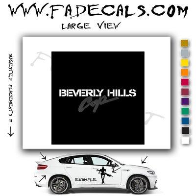 Beverly Hills Cop Movie Logo Decal Sticker