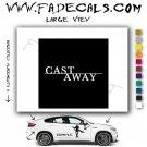 Cast Away Movie Logo Decal Sticker