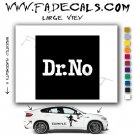 Dr. No Movie Logo Decal Sticker