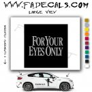 For Your Eyes Only Movie Logo Decal Sticker