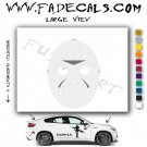Jason Voorhees Friday the 13th Movie Logo Decal Sticker