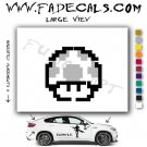 1 Up Mushroom Mario Decal Sticker