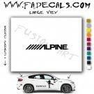 Alpine Brand Logo Decal Sticker