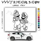 Mario & Luigi 2 Video Game Logo (Decal Sticker)