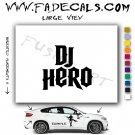 DJ Hero Video Game Logo Decal Sticker