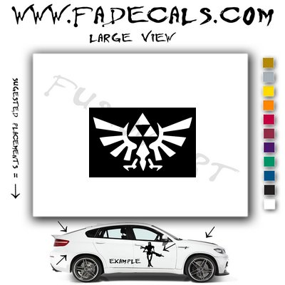 Zelda Triforce Video Game  Logo Decal Sticker