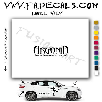 Argonia Video Game  Logo Decal Sticker