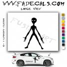 Alien ET Extra-Terrestrial S.E.T.I. Area 51 Silhouettes #1(Decal - Sticker)