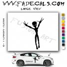 Alien ET Extra-Terrestrial S.E.T.I. Area 51 Silhouettes #2 (Decal - Sticker)