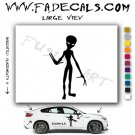 Alien ET Extra-Terrestrial S.E.T.I. Area 51 Silhouettes #3 (Decal - Sticker)