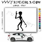 Alien ET Extra-Terrestrial S.E.T.I. Area 51 Silhouettes #10 (Decal - Sticker)