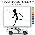 Alien ET Extra-Terrestrial S.E.T.I. Area 51 Silhouettes #18 (Decal - Sticker)
