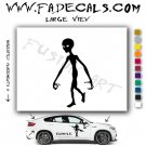 Alien ET Extra-Terrestrial S.E.T.I. Area 51 Silhouettes #19 (Decal - Sticker)