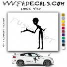 Alien ET Extra-Terrestrial S.E.T.I. Area 51 Silhouettes #20 (Decal - Sticker)