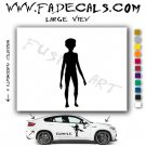 Alien ET Extra-Terrestrial S.E.T.I. Area 51 Silhouettes #22 (Decal - Sticker)