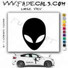 Alien ET Extra-Terrestrial S.E.T.I. Area 51 Silhouettes #24 (Decal - Sticker)