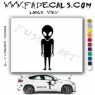 Alien ET Extra-Terrestrial S.E.T.I. Area 51 Silhouettes #30 (Decal - Sticker)