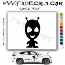 Alien ET Extra-Terrestrial S.E.T.I. Area 51 Silhouettes #36 (Decal - Sticker)