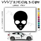 Alien ET Extra-Terrestrial S.E.T.I. Area 51 Silhouettes #37 (Decal - Sticker)