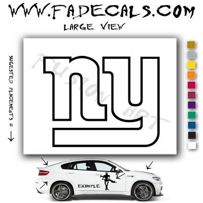 New York Giants Football (Decal - Sticker)