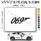 069 (007) Bond Gun Logo Decal Sticker