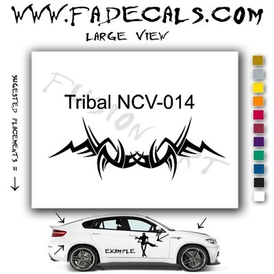 Tribal Tattoo Element Style 14 Logo Decal Sticker