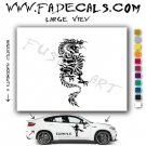Oriental Dragon Style 3 Vinyl  Logo Decal Sticker