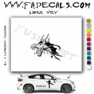 Oriental Dragon Style 5 Vinyl  Logo Decal Sticker