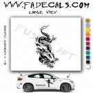Oriental Dragon Style 6 Vinyl  Logo Decal Sticker
