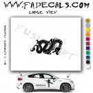 Oriental Dragon Style 8 Vinyl  Logo Decal Sticker