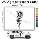 Oriental Dragon Style 11 Vinyl Logo Decal Sticker