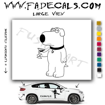 Brian Family Guy Vinyl Decal & Sticker