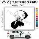 Stewie Griffin on Trike Family Guy Vinyl Decal & Sticker