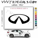 Infiniti Aftermarket Logo Die Cut Vinyl Decal Sticker