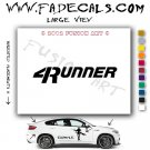 4 Runner Aftermarket Logo Die Cut Vinyl Decal Sticker