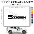 5Zigen 2 Aftermarket Logo Die Cut Vinyl Decal Sticker