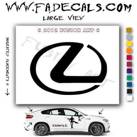 Lexus Aftermarket Logo Die Cut Vinyl Decal Sticker