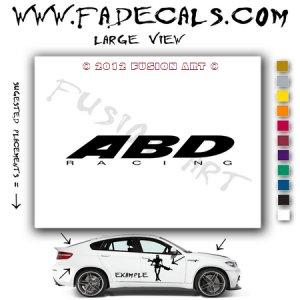 ABD Racing Aftermarket Logo Die Cut Vinyl Decal Sticker
