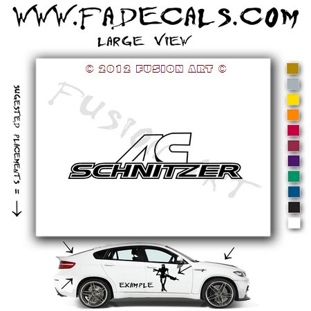 AC Schnitzer Aftermarket Logo Die Cut Vinyl Decal Sticker