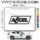 Accel 2 Aftermarket Logo Die Cut Vinyl Decal Sticker