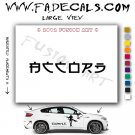 Accord Chinese Aftermarket Logo Die Cut Vinyl Decal Sticker