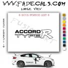Accord Type R Aftermarket Logo Die Cut Vinyl Decal Sticker