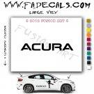 Acura Aftermarket Logo Die Cut Vinyl Decal Sticker