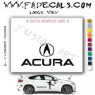 Acura 3 Aftermarket Logo Die Cut Vinyl Decal Sticker