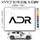 ADR Aftermarket Logo Die Cut Vinyl Decal Sticker